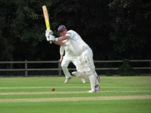 Tom drives through mid-wicket