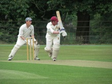 Matty steers one through the leg side
