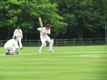Matt Marshall poised to strike in his innings of 53