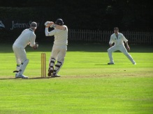 Preetinder pulls for a 6 as he and Matt put on a record-breaking 4th wicket stand of 170