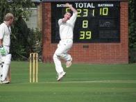 Matt Syddall whirls his leg-spinners