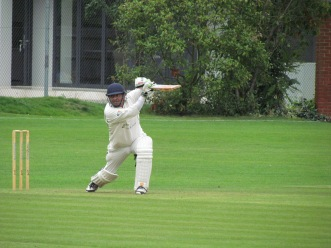 Preetinder's drive presents a catch to point - 56/3
