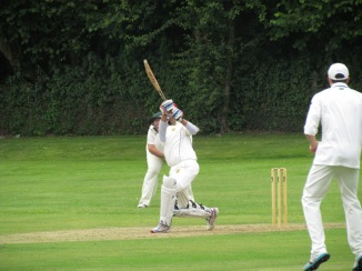 Skipper Shahzeb hit a six