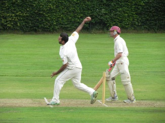 Khush delivers with foot behind the line