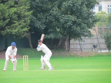 Varun Sarna on his way to a quick 57