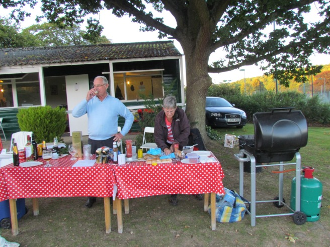 The Greenwoods hold an after-match BBQ at the ground