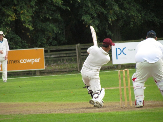 Imran Khan on his way to a maiden fifty