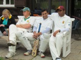 Alex, Shahzeb and Amit on the bench