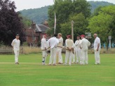 A frequent meeting as each Dunsfold wicket tumbles