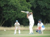Sid drives in his 61*