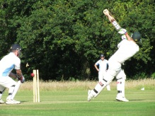 Sid gets bowled going for a big one