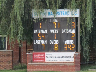 After 8 overs we are well on course