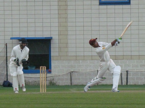 Saikat comes to the party - the first of five sixes