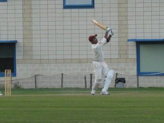 Another six for Saikat getting to his maiden fifty in just 23 balls