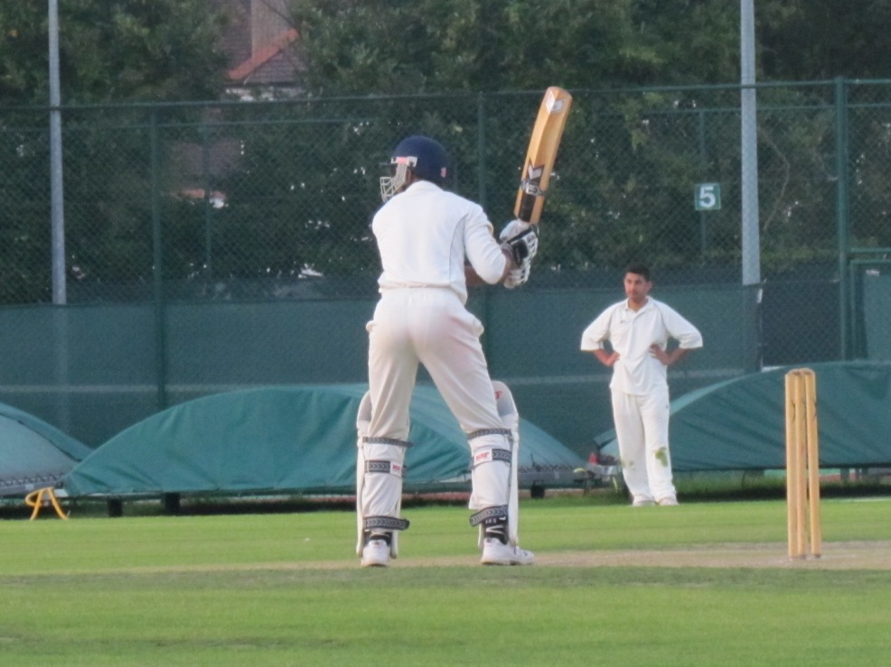 Stand and deliver. Aggressive Eddy with a baseball stance to despatch a six