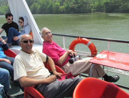 San and Sunil cruising on the Douro
