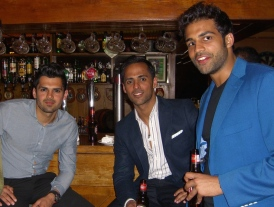 Jay Jadeja, Sumaer Amar and Jay Matharu at the bar