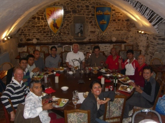 Knights (and Lady) of the Round Table feast in Dol de Bretagne