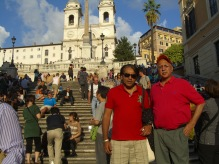 Neeraj and Sunil on the Spanish Steps