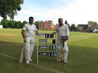 Nitin and Keith give us a 10 wicket win