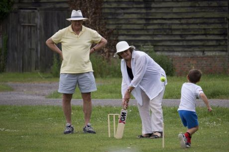 Another game played at Warborough by the Syddall family