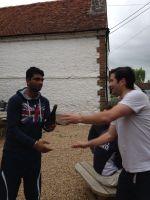 Man of the Match, Akhi Shailendra accepts the King Cobra