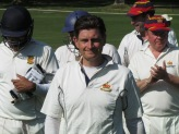A cheer for Steve Nutt for his 5/53 enabling him to reach 500 wickets for the Household