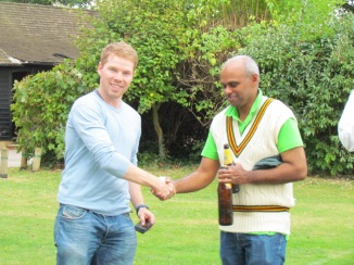 Chris Chunnilall gets the Cobra Award for his 5 wkts haul