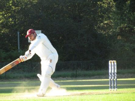 Hammad on his way to a quick-fire 30