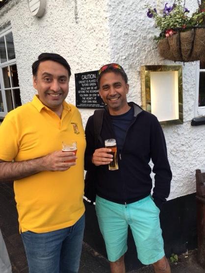 Chetan and Deepak at the Barley Mow