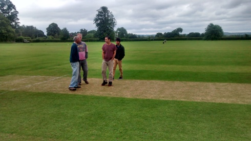Inspecting the wicket