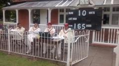 Ro, Shahzeb, Matt and San watch our innings start