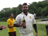 Wajid wins the Cobra award for his Hat-trick