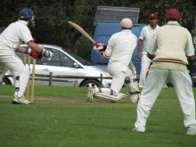Matt Cook despatches one into the car park
