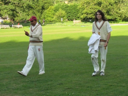 Change of umpires - Neeraj and Stef