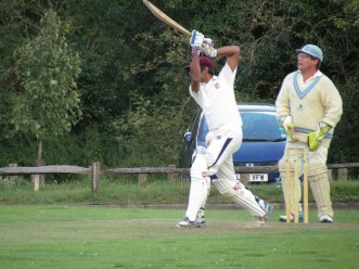 Rohan drives elegantly on his way to a near fifty