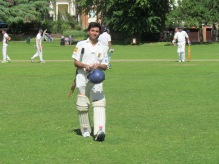 Sher Babi - out for 81, having played a lone hand
