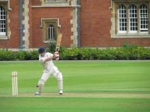 Tim square drives on his way to a match winning 84*