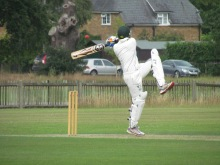 Shahzeb's favourite shot on his way to an unbeaten 60