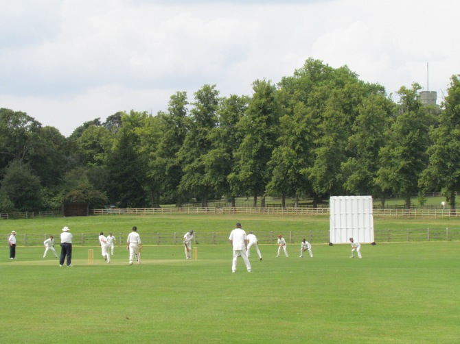 Play at Royal Household, Frogmore - with Windsor Castle as a backdrop