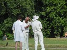 Sunil greasing the ball?