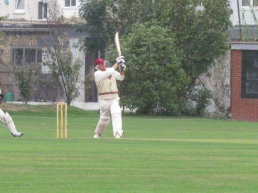 Michael dispatches one to the boundary