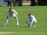 Neeraj at slip and Nino wait for the catch