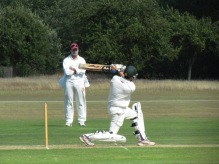 Shahzeb smashes to the boundary