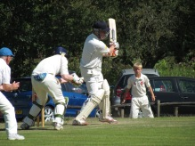 Chris cuts while mid-wicket's feet disappear