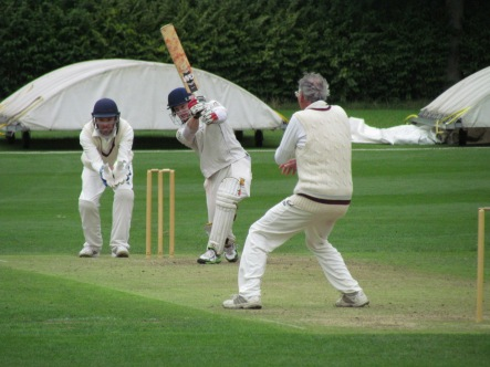 A classic cover drive by Tim
