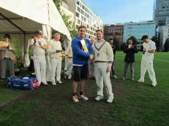 Man of the Match award to Sean Parry for his fine century