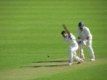 Varun Sarna supports in a 51 run partnership with Tabby
