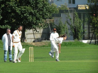 Stefanos bowls for the Youths as Vets make a shaky start