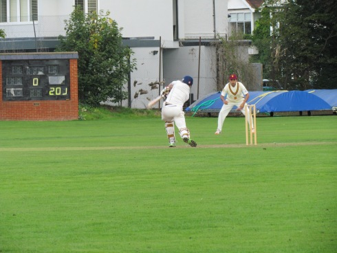 Chasing 201 Tim falls in the first over - a pearler from Deepak